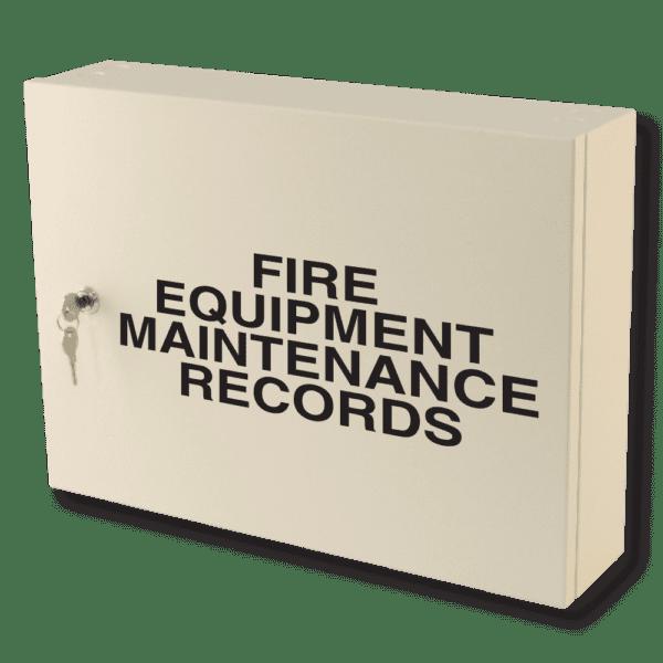 fire equipment maintenance records cabinet milk white