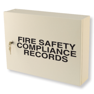 fire safety compliance records cabinet milk white