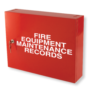 fire safety compliance records cabinet red